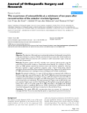 """báo cáo hóa học:""""  The occurrence of osteoarthritis at a minimum of ten years after reconstruction of the anterior cruciate ligament"""""""