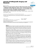 """báo cáo hóa học:""""   Diagnosis of periprosthetic infection following total hip arthroplasty – evaluation of the diagnostic values of pre- and intraoperative parameters and the associated strategy to preoperatively select patients with a high probability of joint infection"""""""