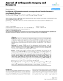 """báo cáo hóa học:""""  Incidence of hip replacement among national health insurance enrollees in Taiwan"""""""