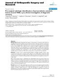 """báo cáo hóa học:"""" Pre-surgical radiologic identification of peri-prosthetic osteolytic lesions around TKRs: a pre-clinical investigation of diagnostic accuracy"""""""