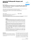"""báo cáo hóa học:"""" Varus distal femoral osteotomy in young adults with valgus knee"""""""