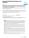 """báo cáo hóa học:""""  Effect of cross exercise on quadriceps acceleration reaction time and subjective scores (Lysholm questionnaire) following anterior cruciate ligament reconstruction"""""""