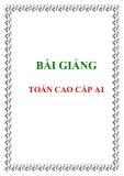 Bài giảng toán cao cấp A1 - Ths. Nguyễn Văn Du