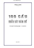 100 câu khảo sát hàm số_Tài liệu ôn thi đại học - cao đẳng