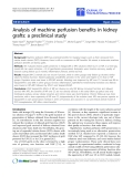 "báo cáo hóa học:"" Analysis of machine perfusion benefits in kidney grafts: a preclinical study"""