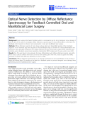 "báo cáo hóa học:"" Optical Nerve Detection by Diffuse Reflectance Spectroscopy for Feedback Controlled Oral and Maxillofacial Laser Surgery"""