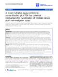 """báo cáo hóa học:"""" A novel multiplex assay combining autoantibodies plus PSA has potential implications for classification of prostate cancer from non-malignant cases"""""""