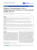 "báo cáo hóa học:"" Inhibition of phosphorylated c-Met in rhabdomyosarcoma cell lines by a small molecule inhibitor SU11274"""
