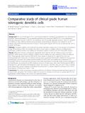 "báo cáo hóa học:"" Comparative study of clinical grade human tolerogenic dendritic cells"""