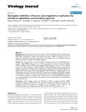 "báo cáo hóa học:"" Synergistic inhibition of human cytomegalovirus replication by interferon-alpha/beta and interferon-gamma"""