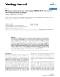 """báo cáo hóa học:"""" Molecular advances in the cell biology of SARS-CoV and current disease prevention strategies"""""""