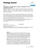 "báo cáo hóa học:"" Comparison of amplification enzymes for Hepatitis C Virus quasispecies analysis"""