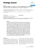 "báo cáo hóa học:"" Peptide inhibitors of dengue virus and West Nile virus infectivity"""