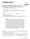 """báo cáo hóa học:""""  Use of a novel cell-based fusion reporter assay to explore the host range of human respiratory syncytial virus F protein"""""""