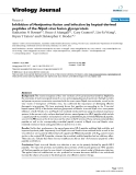 """báo cáo hóa học:""""  Inhibition of Henipavirus fusion and infection by heptad-derived peptides of the Nipah virus fusion glycoprotein"""""""