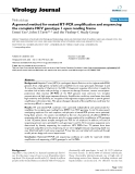"báo cáo hóa học:"" A general method for nested RT-PCR amplification and sequencing the complete HCV genotype 1 open reading frame"""