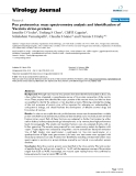 "báo cáo hóa học:""Pox proteomics: mass spectrometry analysis and identification of Vaccinia virion proteins"""