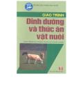Giáo trình dinh dưỡng và thức ăn vật nuôi  - chương 1