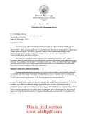 OFFICE OF THE STATE AUDITOR PHIL BRYANT Auditor  January 7, 2004 Financial Audit Management Report