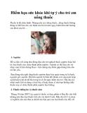 Hiểm họa sức khỏe khi tự ý cho trẻ em uống thuốc