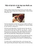 Một sô lợi ích và tác hại của thuốc an thần