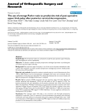 """báo cáo hóa học:"""" The use of average Pavlov ratio to predict the risk of post operative upper limb palsy after posterior cervical decompression"""""""