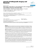 """báo cáo hóa học:""""  Advantages of the Ilizarov external fixation in the management of intra-articular fractures of the distal tibia"""""""