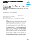 """báo cáo hóa học:""""   Correlation and comparison of Risser sign versus bone age determination (TW3) between children with and without scoliosis in Korean population"""""""