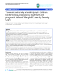 "báo cáo hóa học:""  Traumatic extremity arterial injury in children: Epidemiology, diagnostics, treatment and prognostic value of Mangled Extremity Severity Score"""