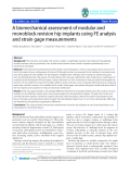 """báo cáo hóa học:""""   A biomechanical assessment of modular and monoblock revision hip implants using FE analysis and strain gage measurements"""""""