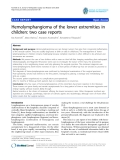 """báo cáo hóa học:""""   Hemolymphangioma of the lower extremities in children: two case reports"""""""