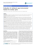 "báo cáo hóa học:""   Evaluation of unilateral cage-instrumented fixation for lumbar spine"""