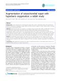 "báo cáo hóa học:""  Augmentation of osteochondral repair with hyperbaric oxygenation: a rabbit study"""