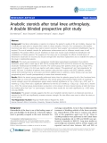 "báo cáo hóa học:""  Anabolic steroids after total knee arthroplasty. A double blinded prospective pilot study"""