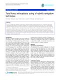 "báo cáo hóa học:"" Total knee arthroplasty using a hybrid navigation technique"""