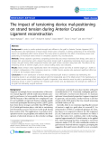 """báo cáo hóa học:""""  The impact of tensioning device mal-positioning on strand tension during Anterior Cruciate Ligament reconstruction"""""""