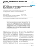 Journal of Orthopaedic Surgery and ResearchResearch articleBioMed CentralOpen AccessACL