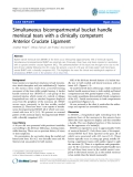"""báo cáo hóa học:""""  Simultaneous bicompartmental bucket handle meniscal tears with a clinically competent Anterior Cruciate Ligament"""""""