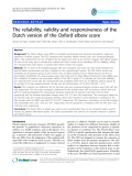 """báo cáo hóa học:""""   The reliability, validity and responsiveness of the Dutch version of the Oxford elbow score"""""""