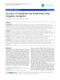"báo cáo hóa học:"" Accuracy of acetabular cup positioning using imageless navigation"""
