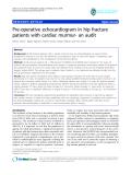 "báo cáo hóa học:""   Pre-operative echocardiogram in hip fracture patients with cardiac murmur- an audit"""