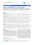 "báo cáo hóa học:""  Residual malformations and leg length discrepancy after treatment of fibular hemimelia"""