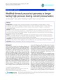 "báo cáo hóa học:""  Modified femoral pressuriser generates a longer lasting high pressure during cement pressurisation"""