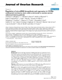 """báo cáo hóa học:""""   Regulation of microRNA biosynthesis and expression in 2102Ep embryonal carcinoma stem cells is mirrored in ovarian serous adenocarcinoma patients"""""""