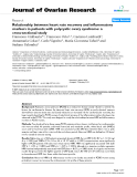 """báo cáo hóa học:""""  Relationship between heart rate recovery and inflammatory markers in patients with polycystic ovary syndrome: a cross-sectional study"""""""