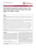 "báo cáo hóa học:""   Endometriosis-associated ovarian cancer: A tenyear cohort study of women living in the Estrie Region of Quebec, Canada"""