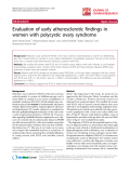 """báo cáo hóa học:""""  Evaluation of early atherosclerotic findings in women with polycystic ovary syndrome"""""""