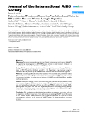 "báo cáo hóa học:""  Determinants of Treatment Access in a Population-based Cohort of HIV-positive Men and Women Living in Argentina"""