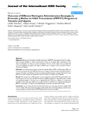 "báo cáo hóa học:""  Outcome of Different Nevirapine Administration Strategies in Preventin g Mother-to-Child Transmission (PMTCT) Programs in Tanzania and Uganda"""
