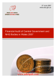 Financial Audit of Central Government and NHS Bodies in Wales 2007 _part1